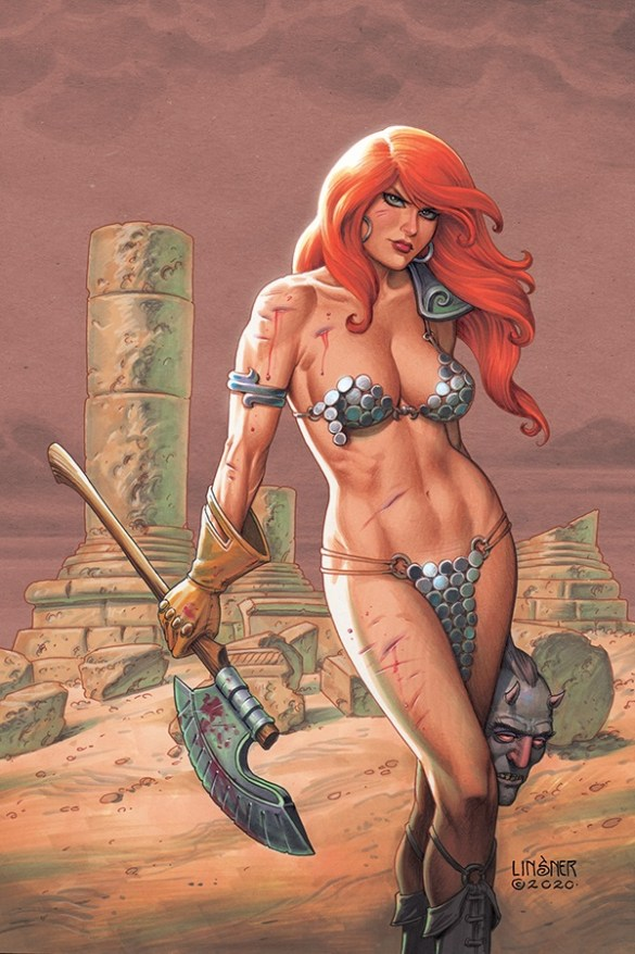 RedSonja-19-19021-B-Linsner Mark Russell's RED SONJA adds Alessandro Miracolo to the team
