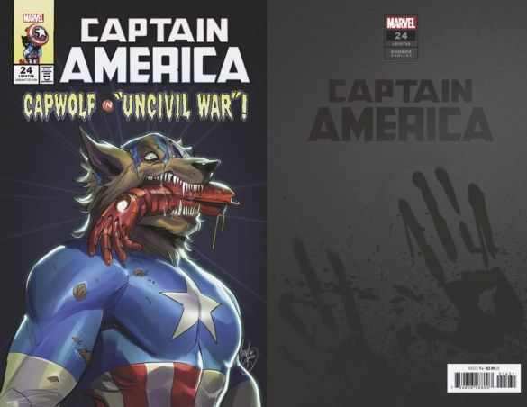 CAPTAIN-AMERICA-24-ANDOLFO-CAP-WOLF-HORROR-VARIANT Marvel Comics will issue timely Horror Variant covers this October