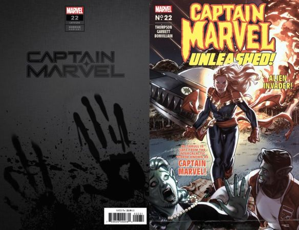 CAPTAIN-MARVEL-22-CAPTAIN-MARVEL-UNLEASHED-HORROR-VARIANT Marvel Comics will issue timely Horror Variant covers this October
