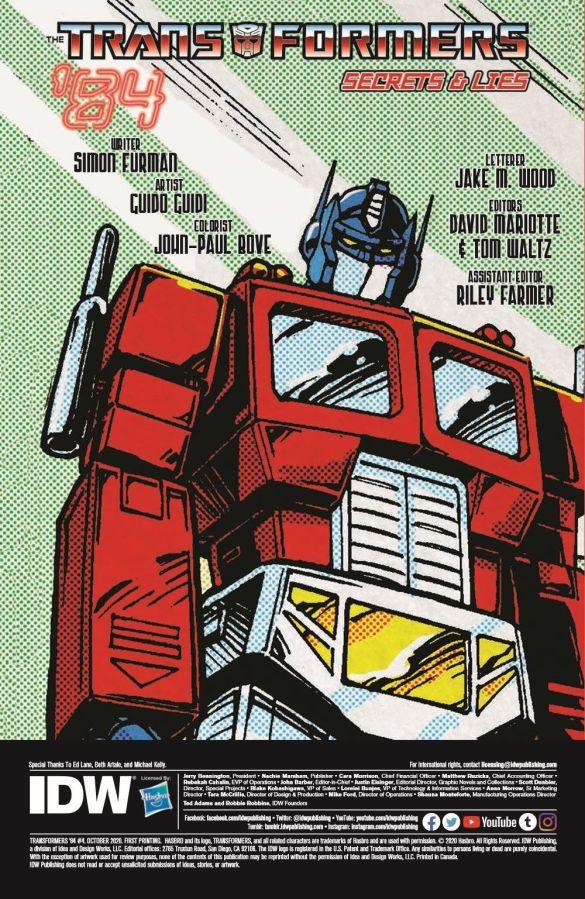 TF84-04-pr-2-1 ComicList Previews: TRANSFORMERS '84 SECRETS AND LIES #4