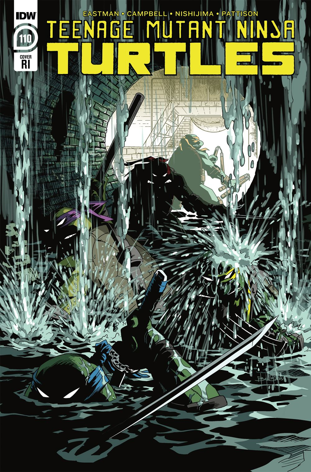 TMNT110_cvrRI ComicList Previews: TEENAGE MUTANT NINJA TURTLES #110