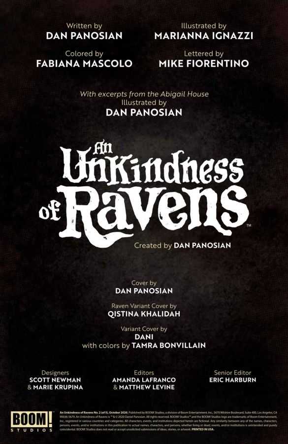 UnkindnessRavens_002_PRESS_2 ComicList Previews: AN UNKINDNESS OF RAVENS #2