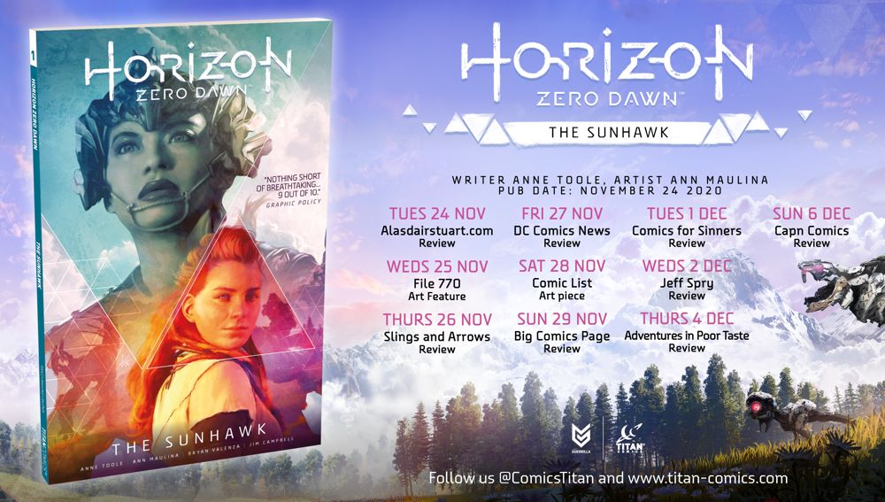 HZD_BlogTour-Poster-2 Special preview of Titan Comics' HORIZON ZERO DAWN VOLUME 1