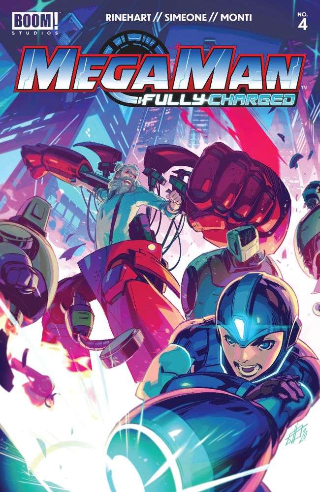 MegaMan_FullyCharged_004_Cover_A_Main ComicList Previews: MEGA MAN FULLY CHARGED #4