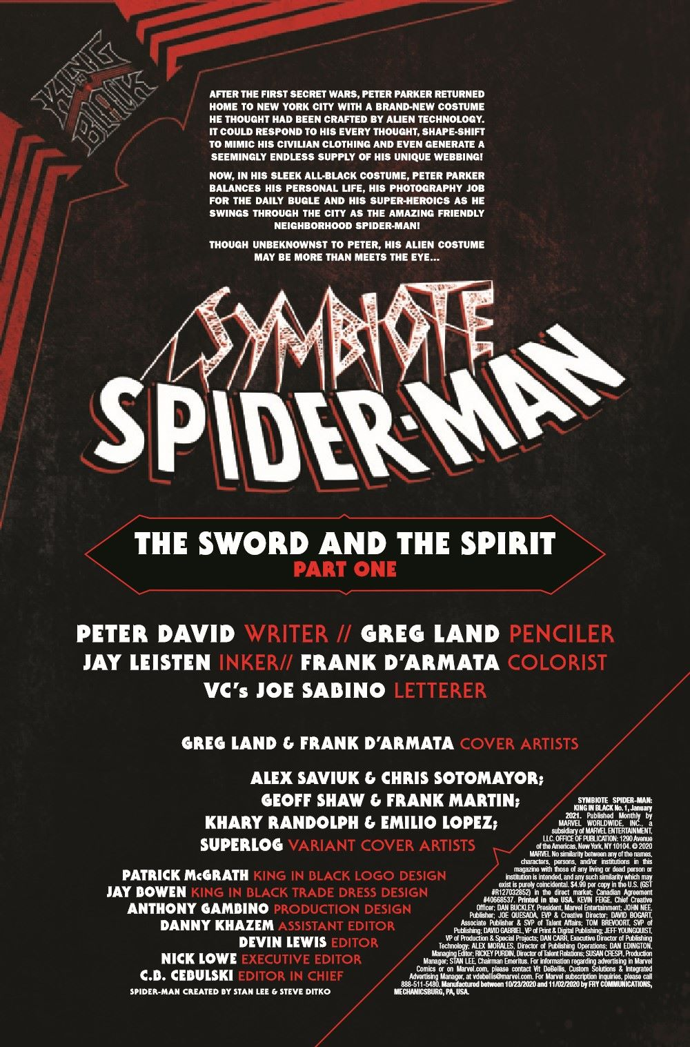 SYMBIOTESMKIB2020001_Preview-2 ComicList Previews: SYMBIOTE SPIDER-MAN KING IN BLACK #1 (OF 5)
