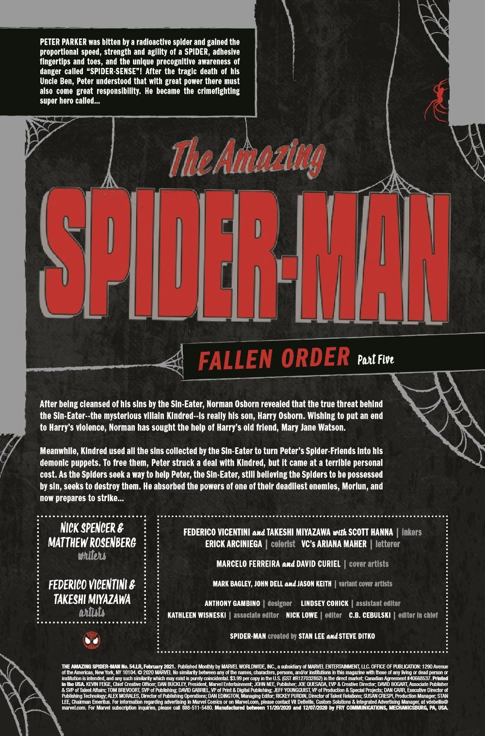 ASMLR2020054_Preview-2 ComicList Previews: THE AMAZING SPIDER-MAN #54.LR