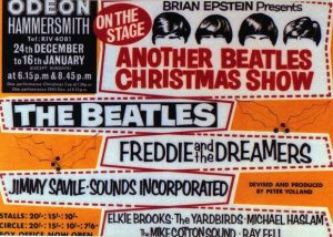 BEATLES-CHRISTMAS-2-300x214 All-Star Christmas Concert Posters Over the Years