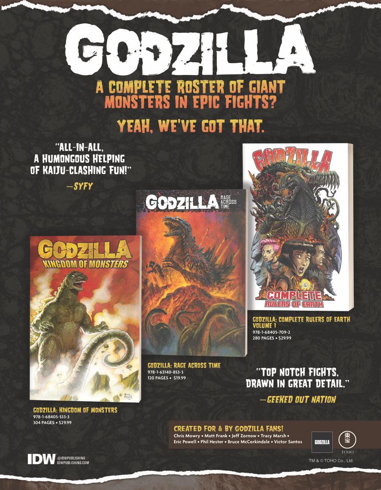 Godzilla_Previews_Backlist2020 IDW Publishing March 2021 Solicitations