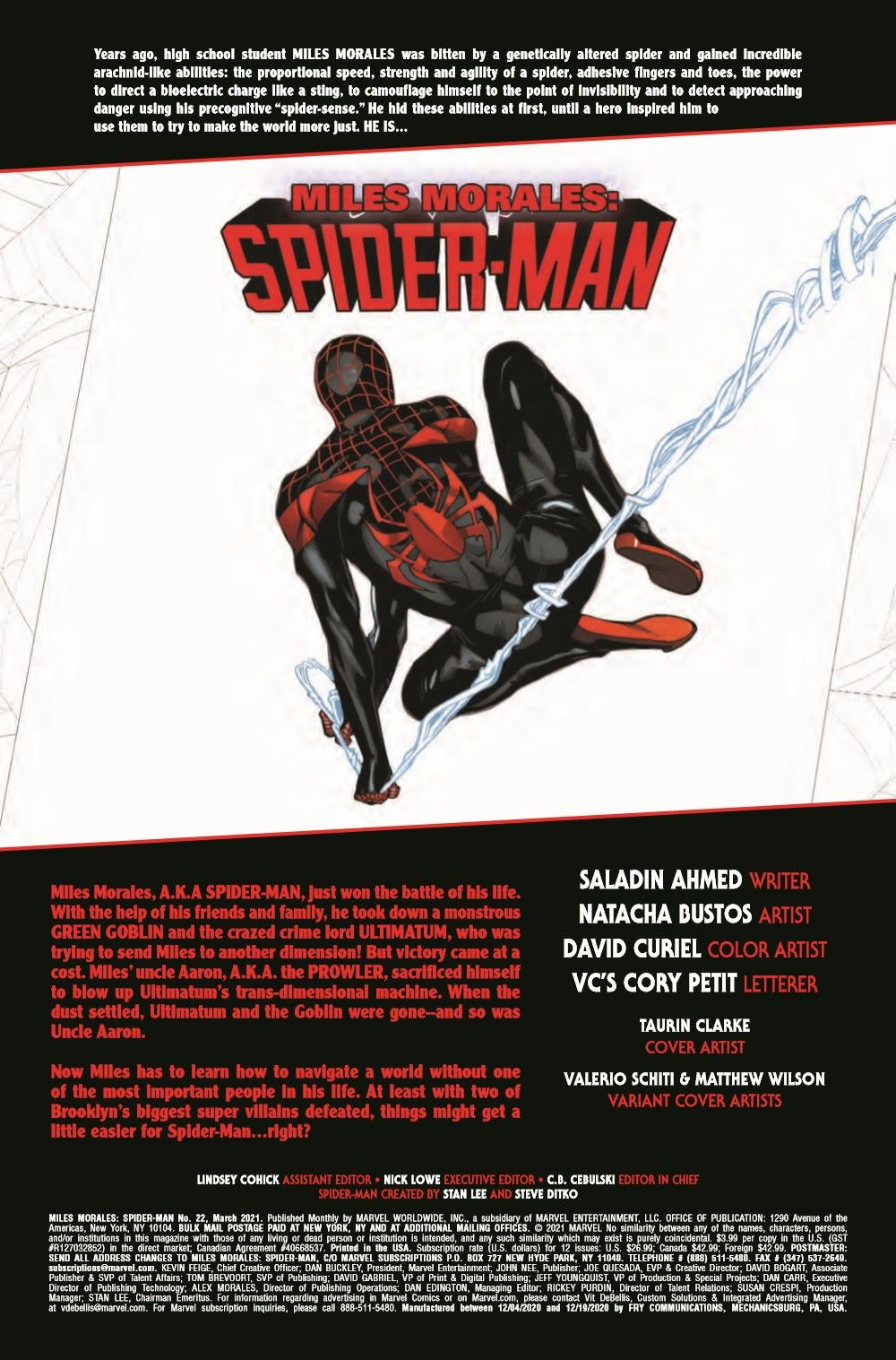 MMSM2018022_Preview-2 ComicList Previews: MILES MORALES SPIDER-MAN #22