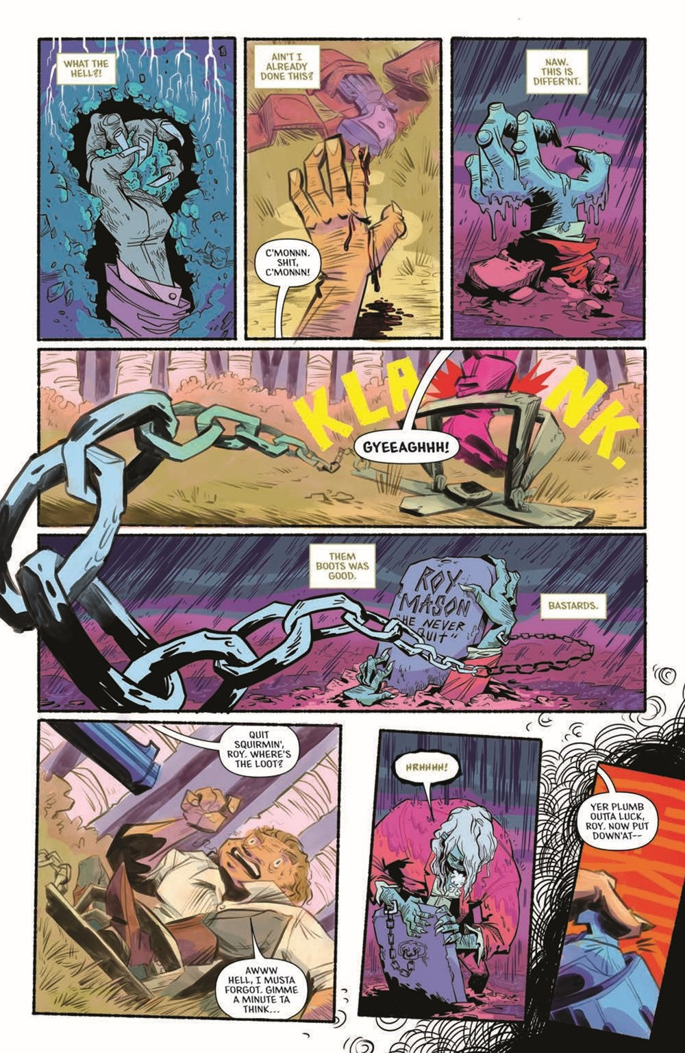 CttG01-pr-3 ComicList Previews: CHAINED TO THE GRAVE #1 (OF 5)