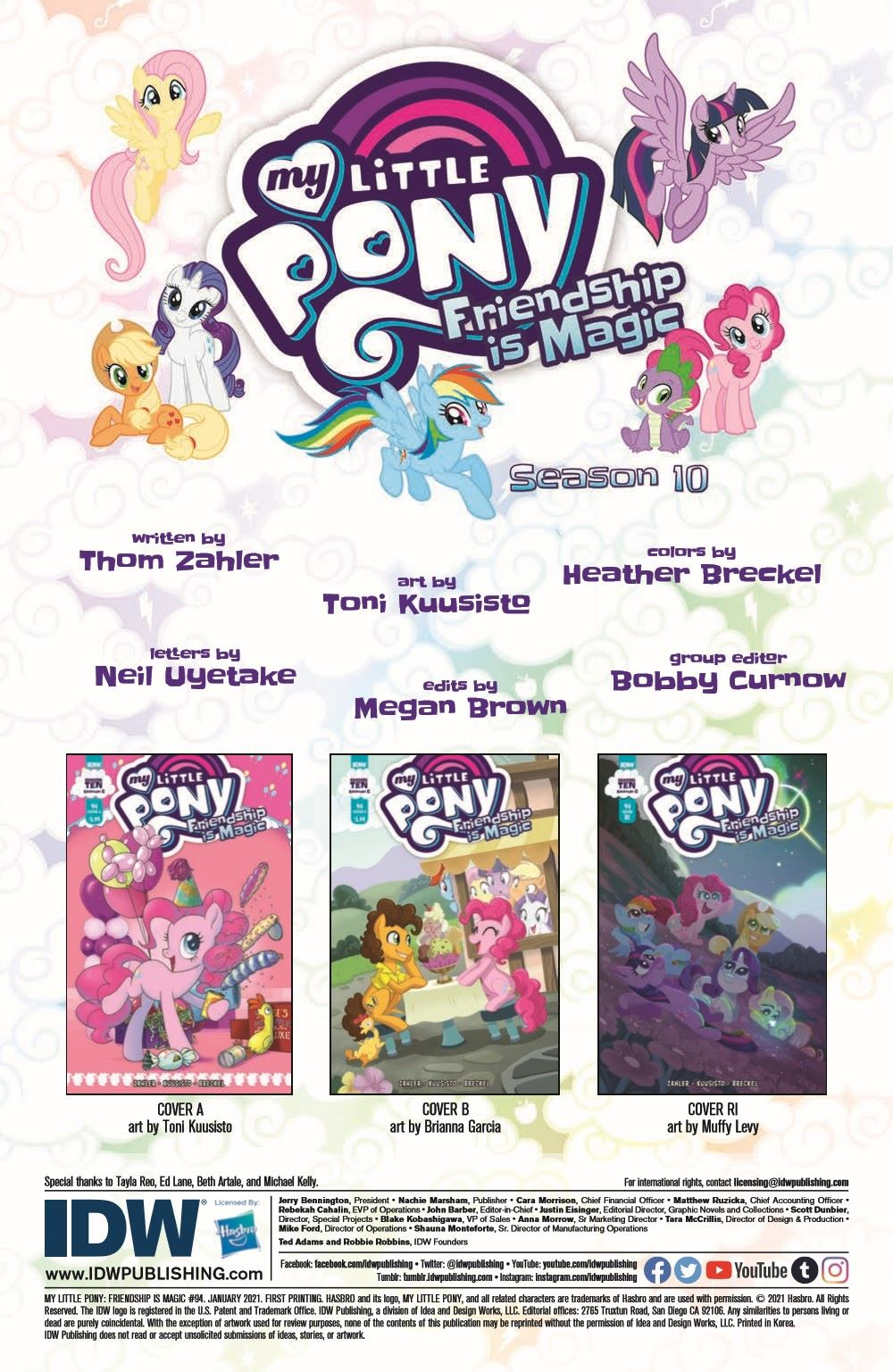 MLP94-pr-2 ComicList Previews: MY LITTLE PONY FRIENDSHIP IS MAGIC #94