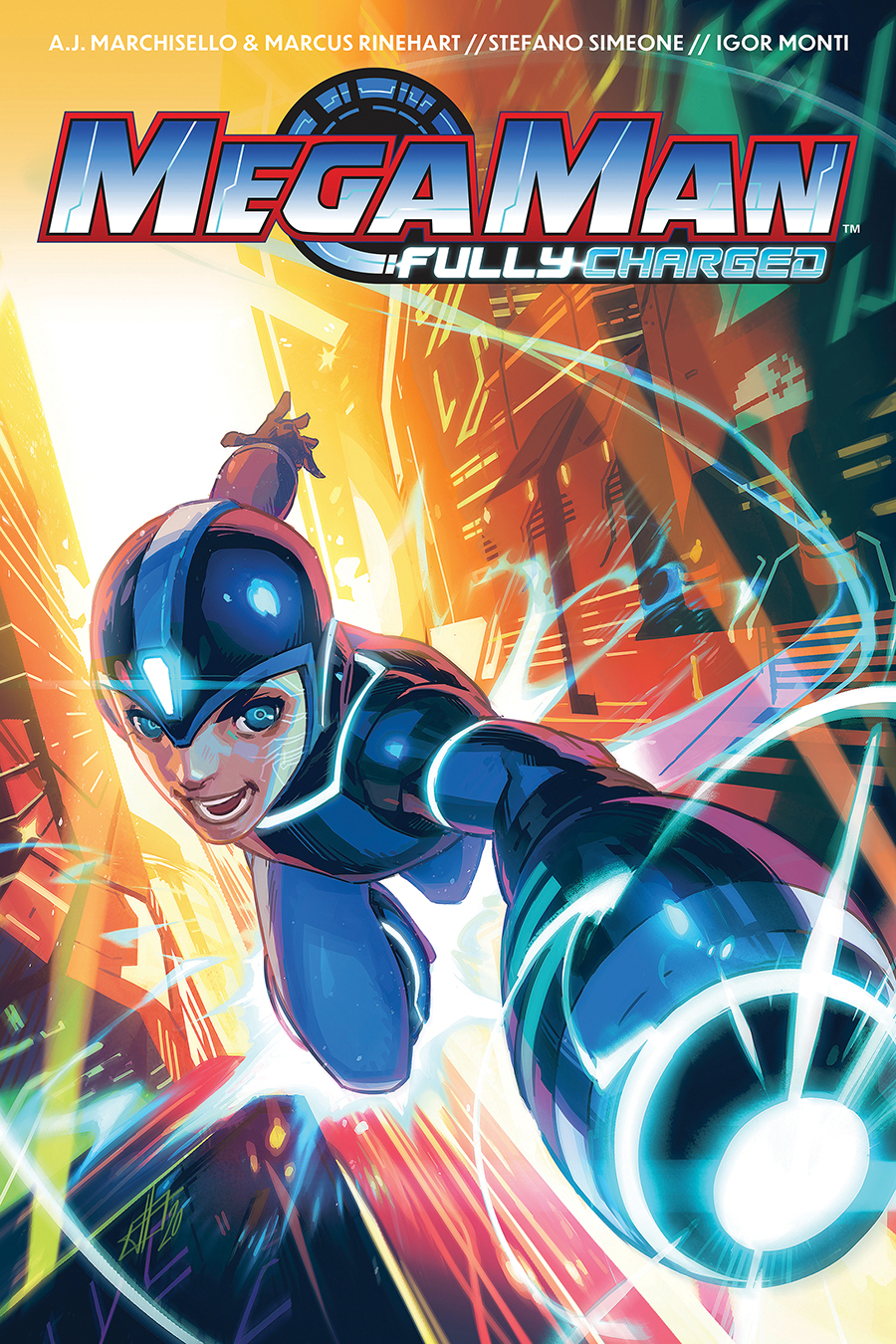 MegaMan_FullyCharged_SC_Cover BOOM! Studios April 2021 Solicitations