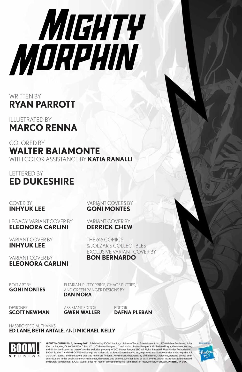 MightyMorphin_003_PRESS_2 ComicList Previews: MIGHTY MORPHIN #3