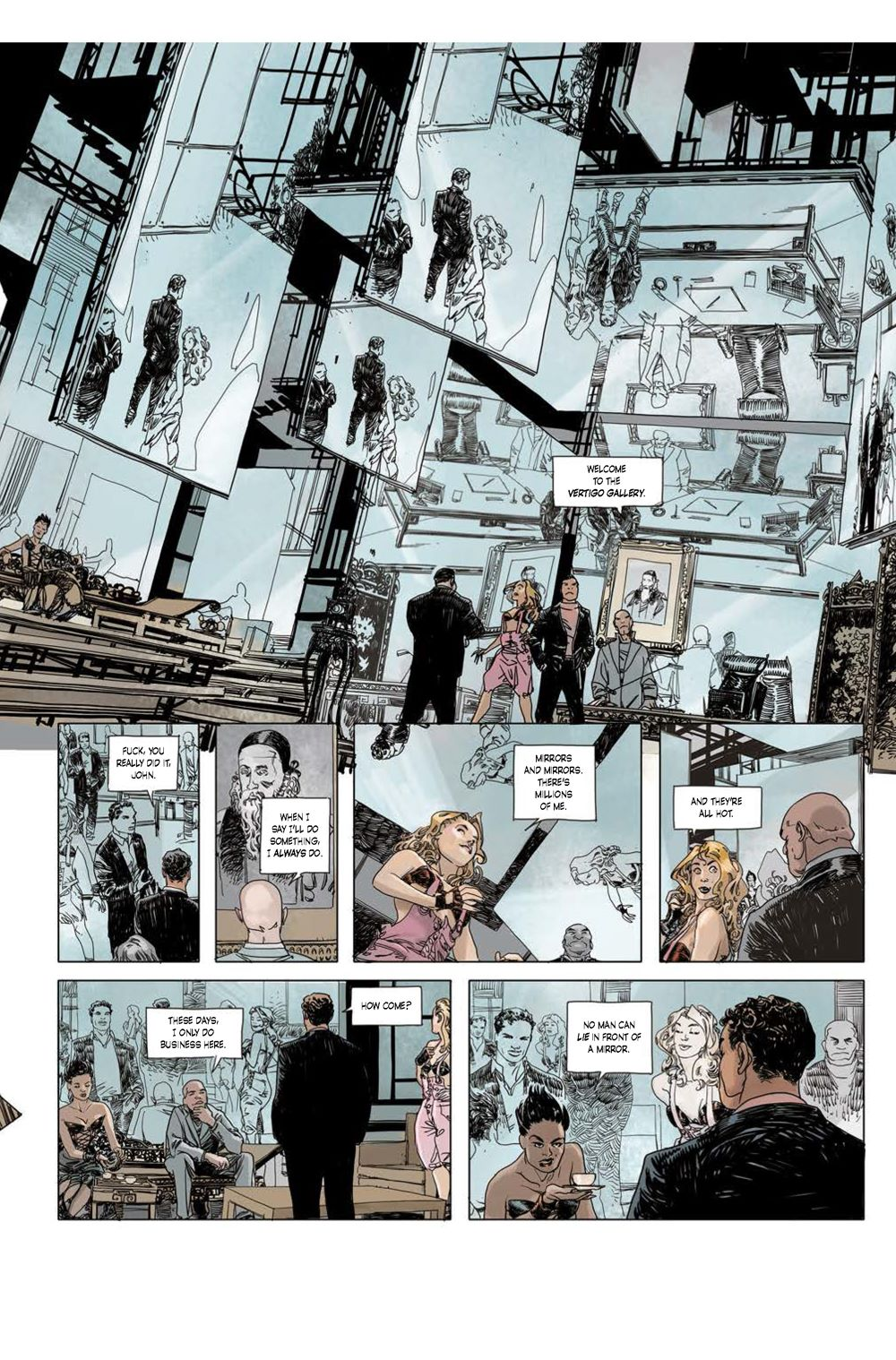 Page_2 ComicList Previews: CUTTING EDGE THE DEVIL'S MIRROR #1 (OF 2)