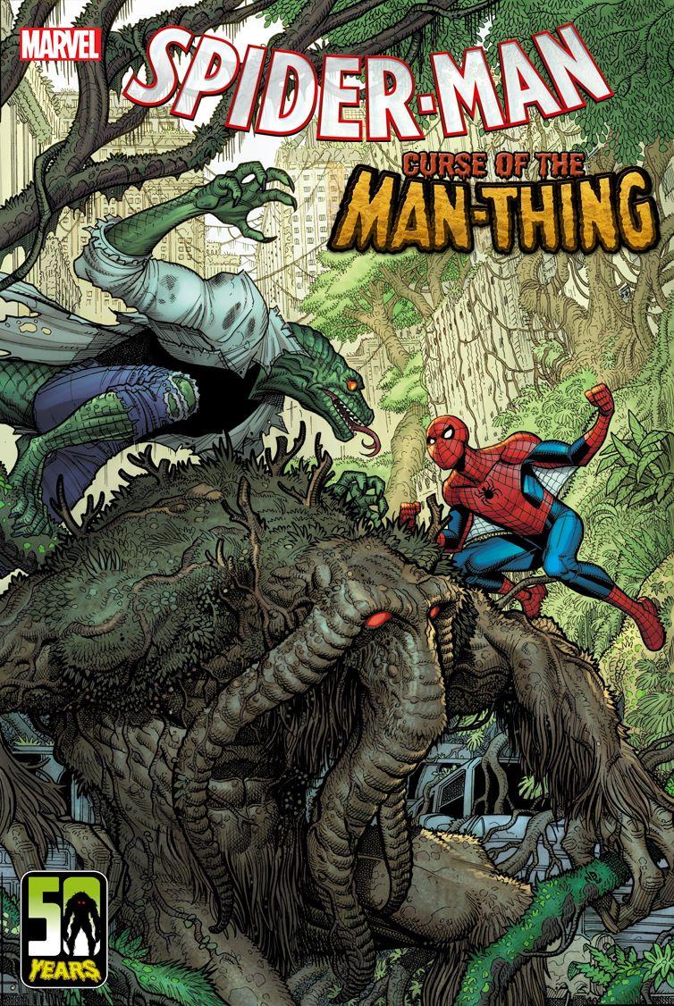 SM_CURSE_MAN-THING_01_Variant Spider-Man faces fear in SPIDER-MAN: CURSE OF THE MAN-THING