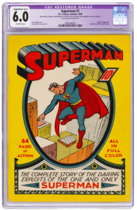 Superman-1-195x300 GOCOLLECT EXCLUSIVE:  MEET THE PROUD SELLER AND FORMER OWNER OF THE RECORD BREAKING BATMAN #1 (1940) CGC 9.4!