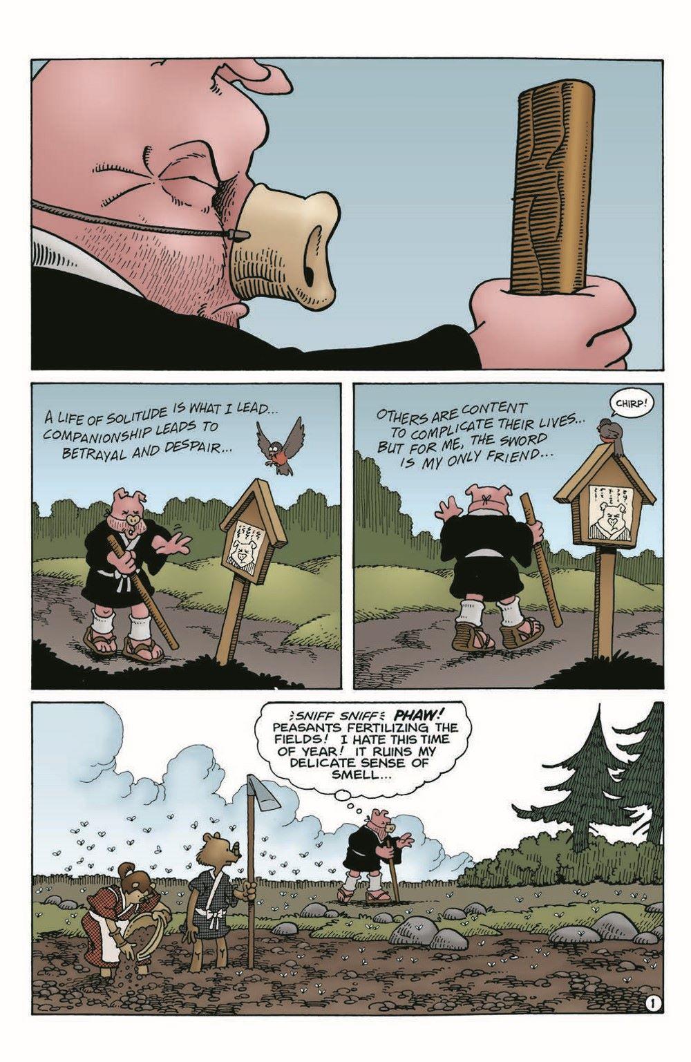 Usagi-WR03_pr-3 ComicList Previews: USAGI YOJIMBO WANDERER'S ROAD #3 (OF 6)