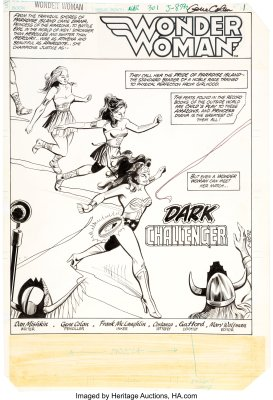 Wonder-Woman-301-Page-1-by-Gene-Colan-and-Frank-McLaughlin-205x300 A Wonder Woman Among Boys: Grade A on the CAT Scale