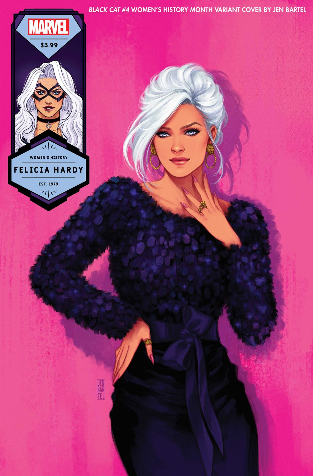 BLACKCAT2020004_Bartel_Womens-History-Month Next set of Marvel WOMEN'S HISTORY MONTH variant covers revealed