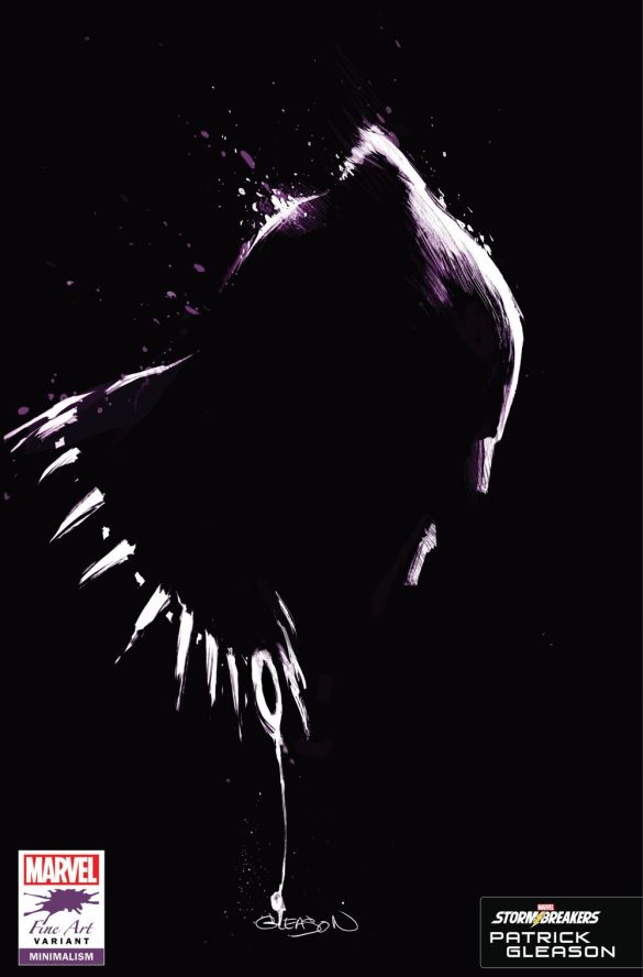 BLAP25_FINEART_GLEASON Marvel's Stormbreakers to create BLACK PANTHER Fine Art variants
