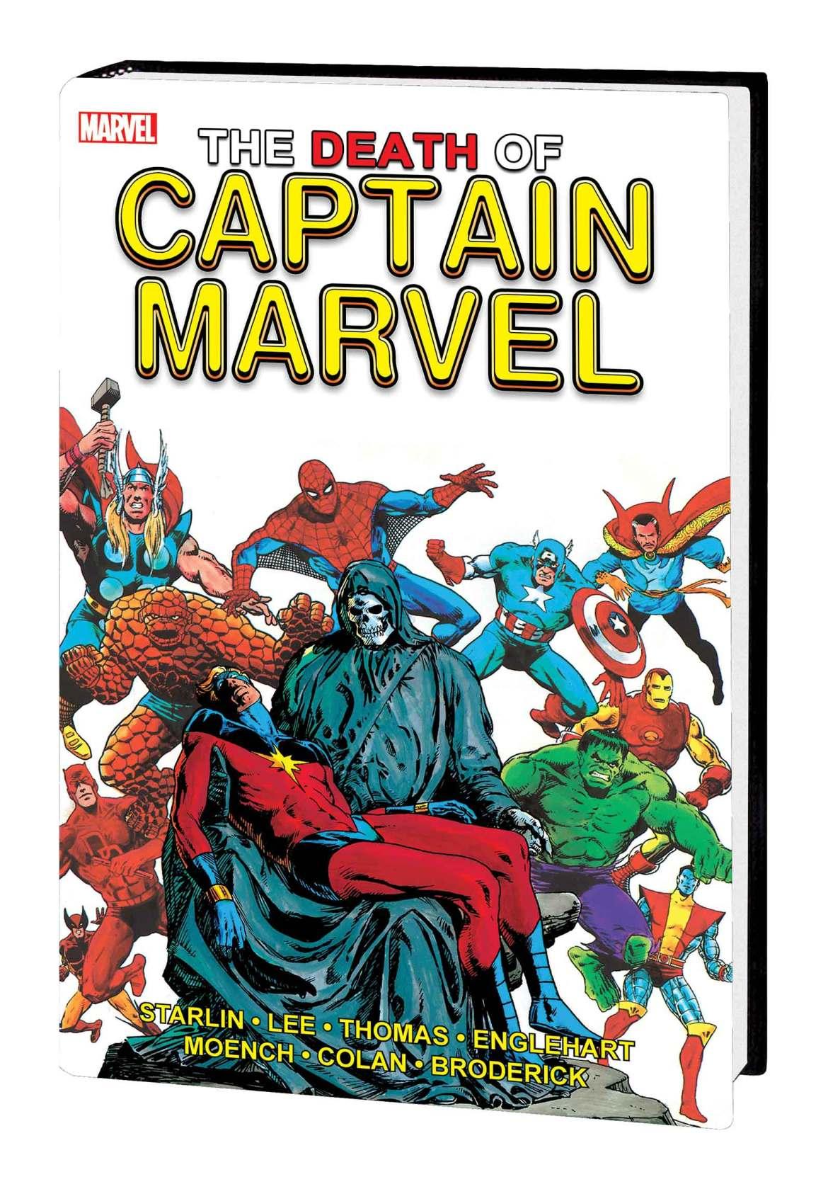 CAPT_MARVEL_DEATH_GE_HC-1 Marvel Comics May 2021 Solicitations