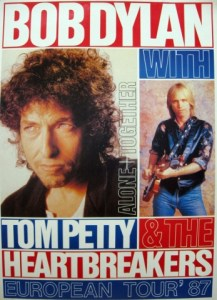 Dylan-and-Petty-alone-together-217x300 Bob Dylan Co-Headlining Concert Posters Through The Years - Part 1