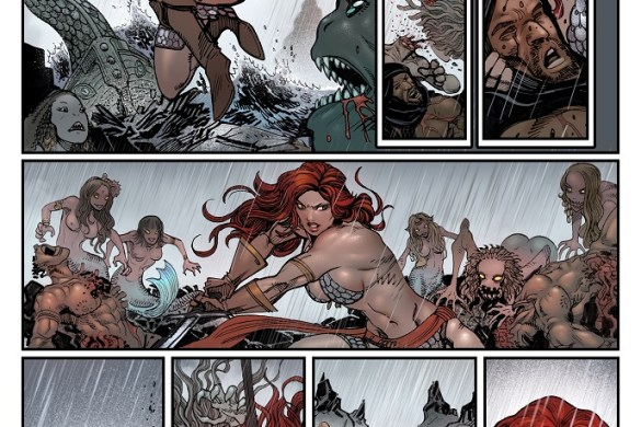 Red_Sonja_01_13flat Amanda Conner and Jimmy Palmiotti unleash THE INVINCIBLE RED SONJA