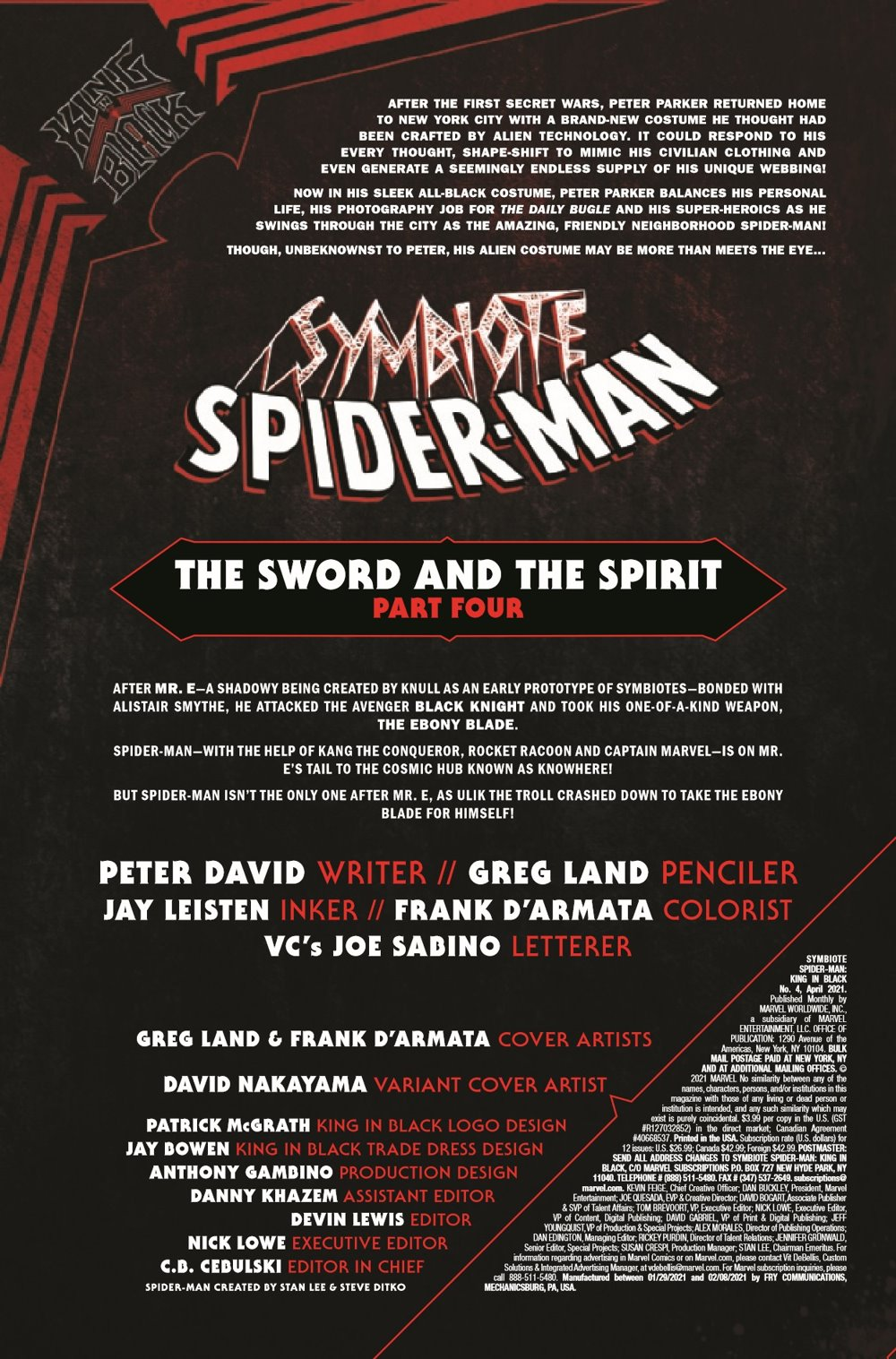 SYMBIOTESMKIB2020004_Preview-2 ComicList Previews: SYMBIOTE SPIDER-MAN KING IN BLACK #4 (OF 5)