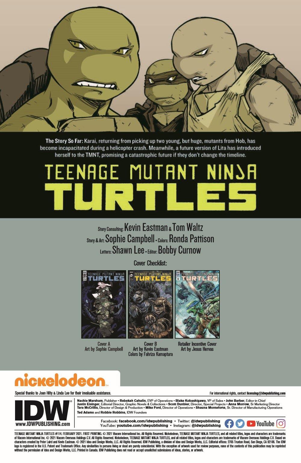 TMNT114_pr-2 ComicList Previews: TEENAGE MUTANT NINJA TURTLES #114