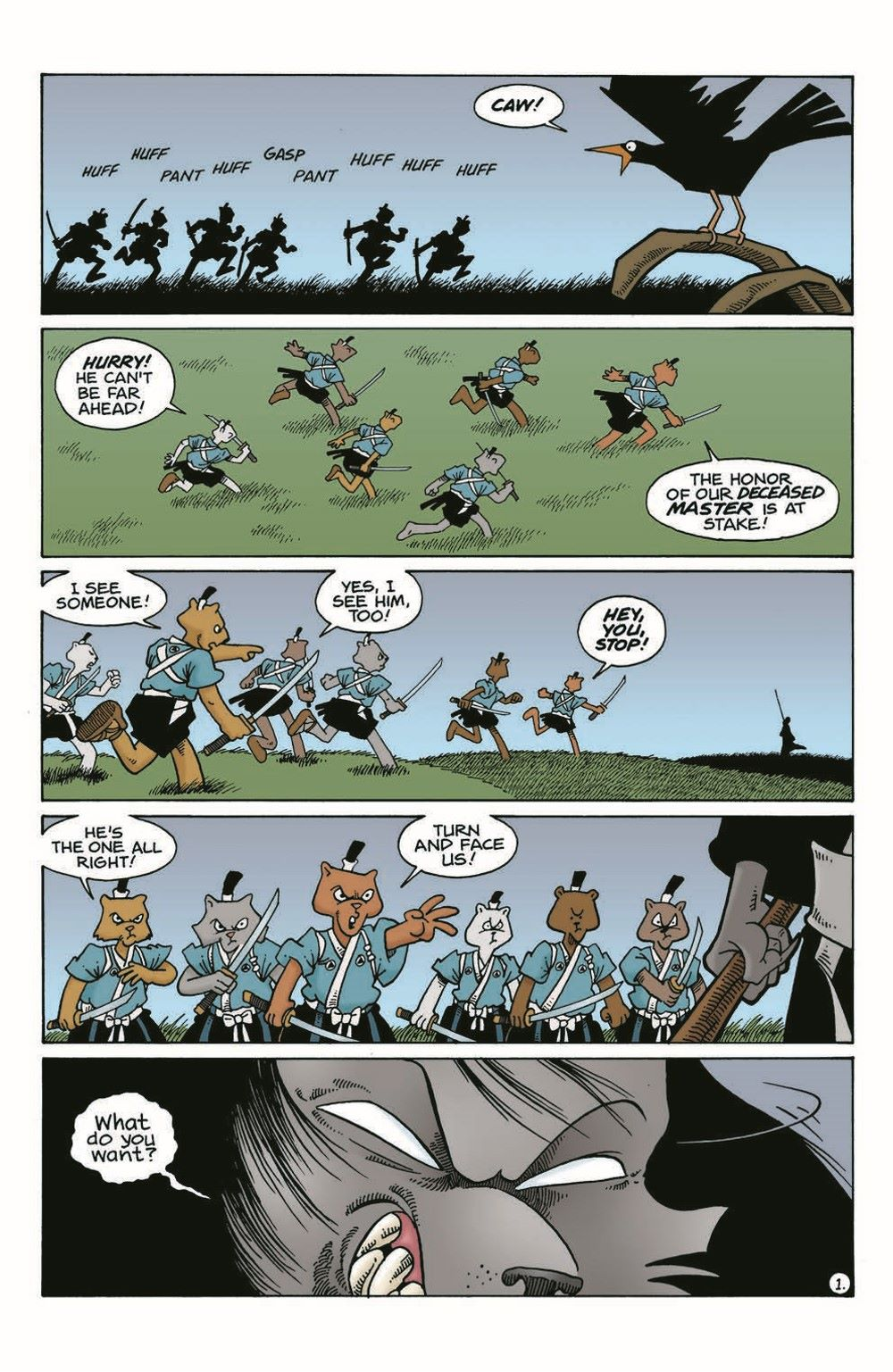 Usagi-WR04_pr-3 ComicList Previews: USAGI YOJIMBO WANDERER'S ROAD #4 (OF 6)