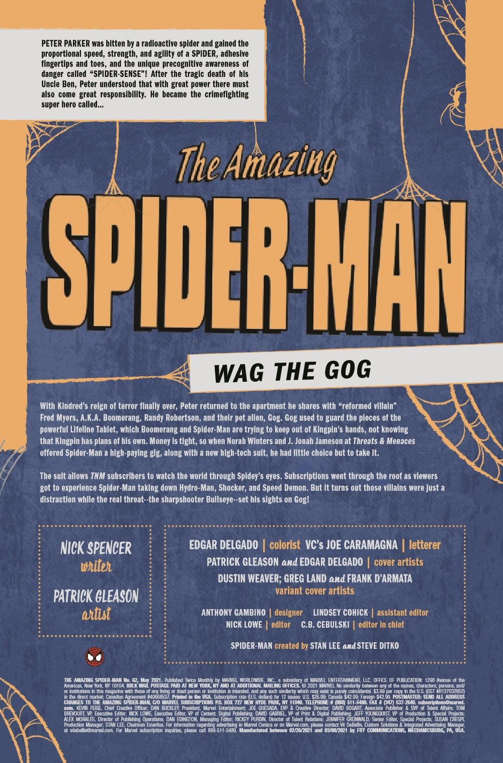 ASM2018062_Preview-2 ComicList Previews: THE AMAZING SPIDER-MAN #62