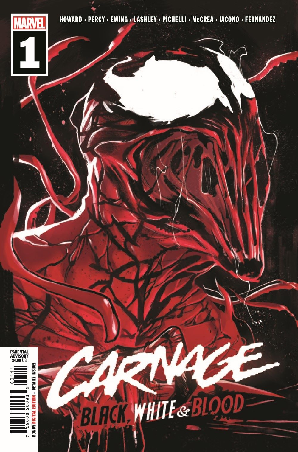 CARNBLKWHBL2021001_Preview-1 ComicList Previews: CARNAGE BLACK WHITE AND BLOOD #1 (OF 4)