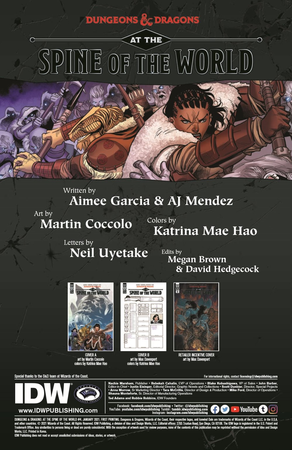 DD_ATSOTW04-pr-2 ComicList Previews: DUNGEONS AND DRAGONS AT THE SPINE OF THE WORLD #4 (OF 4)