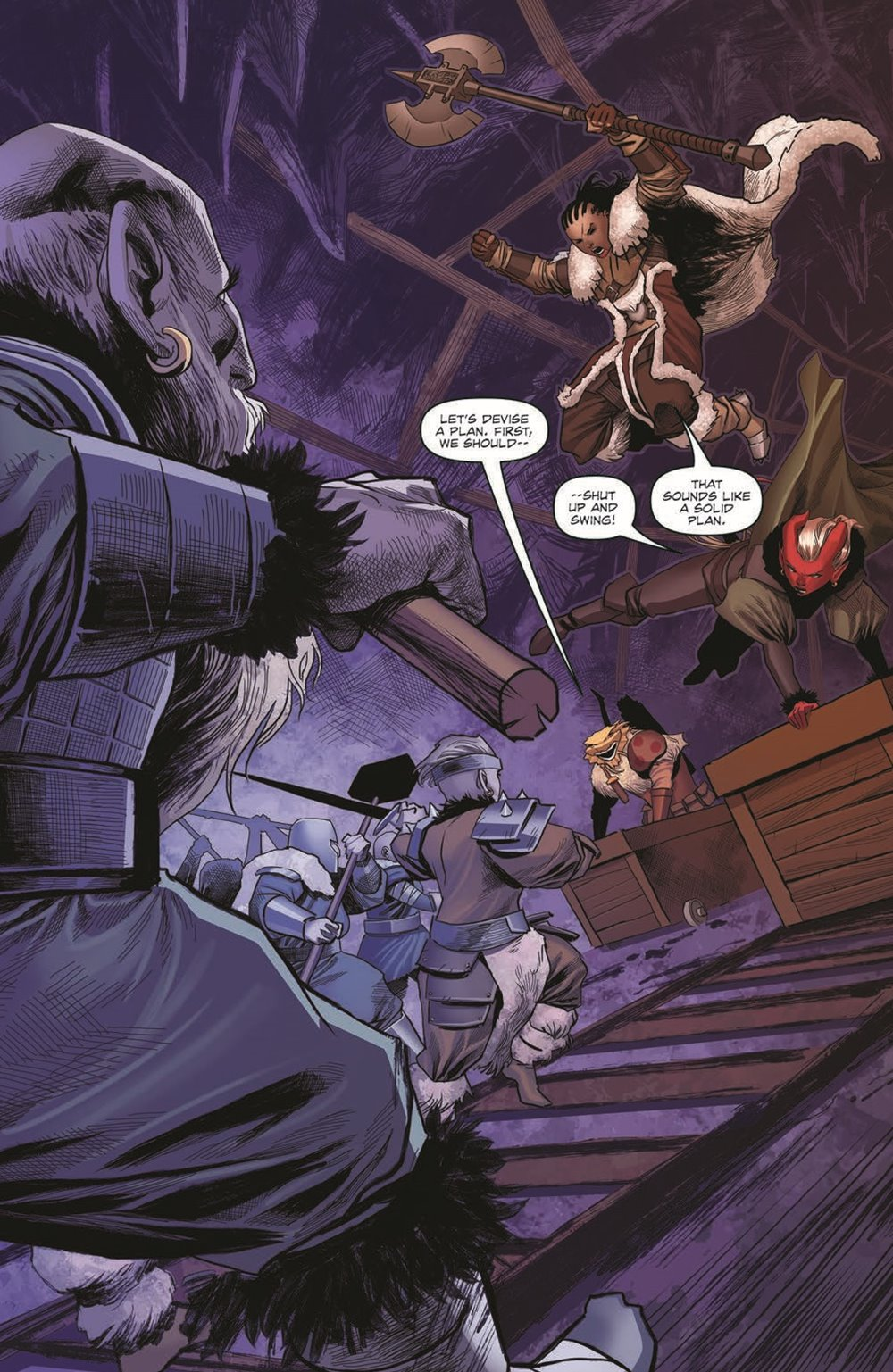 DD_ATSOTW04-pr-3 ComicList Previews: DUNGEONS AND DRAGONS AT THE SPINE OF THE WORLD #4 (OF 4)