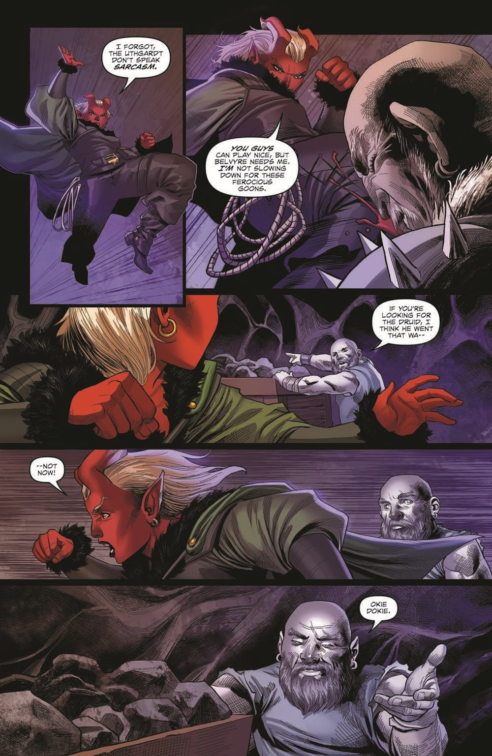 DD_ATSOTW04-pr-5 ComicList Previews: DUNGEONS AND DRAGONS AT THE SPINE OF THE WORLD #4 (OF 4)