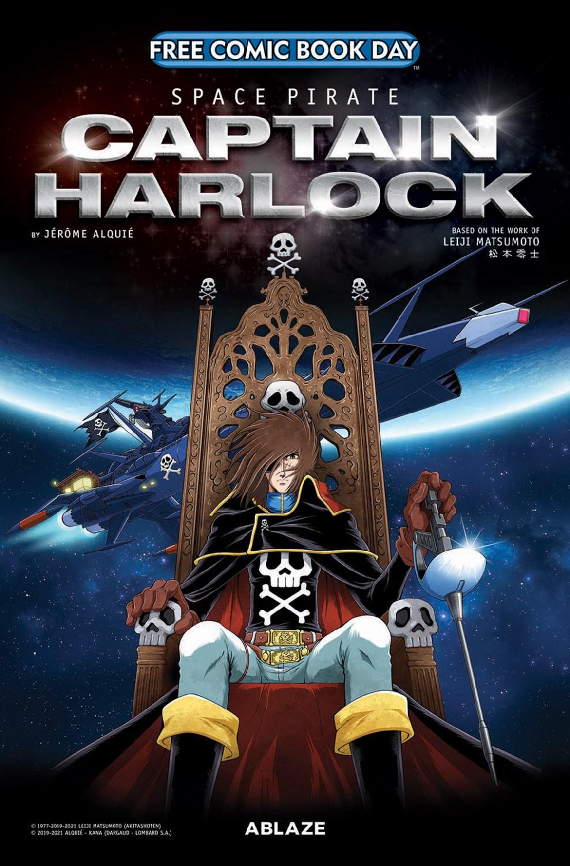 FCBD21_SILVER_ABLAZE_Space-Pirate-Capt-Harlock Complete Free Comic Book Day 2021 comic book line-up announced
