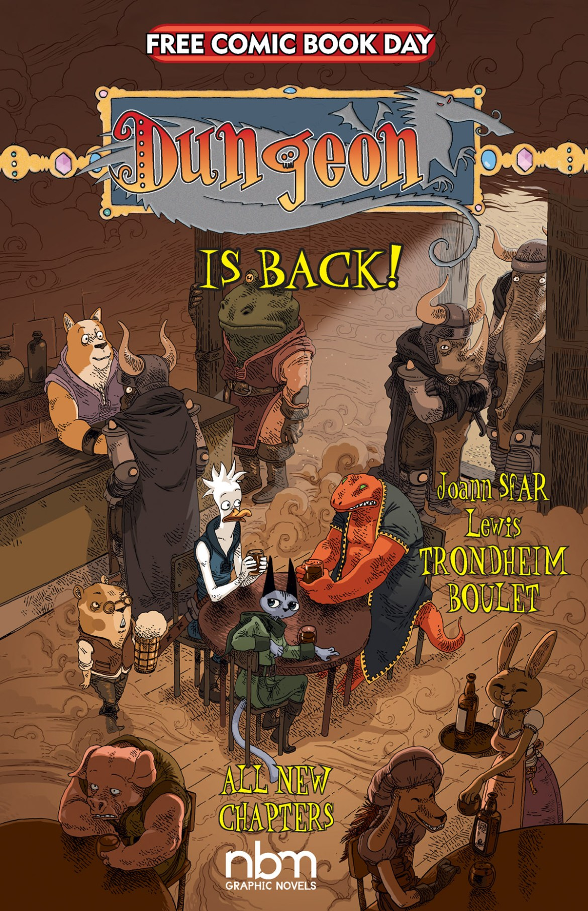 FCBD21_SILVER_NBM-Pub_Dungeon-Relaunch Complete Free Comic Book Day 2021 comic book line-up announced
