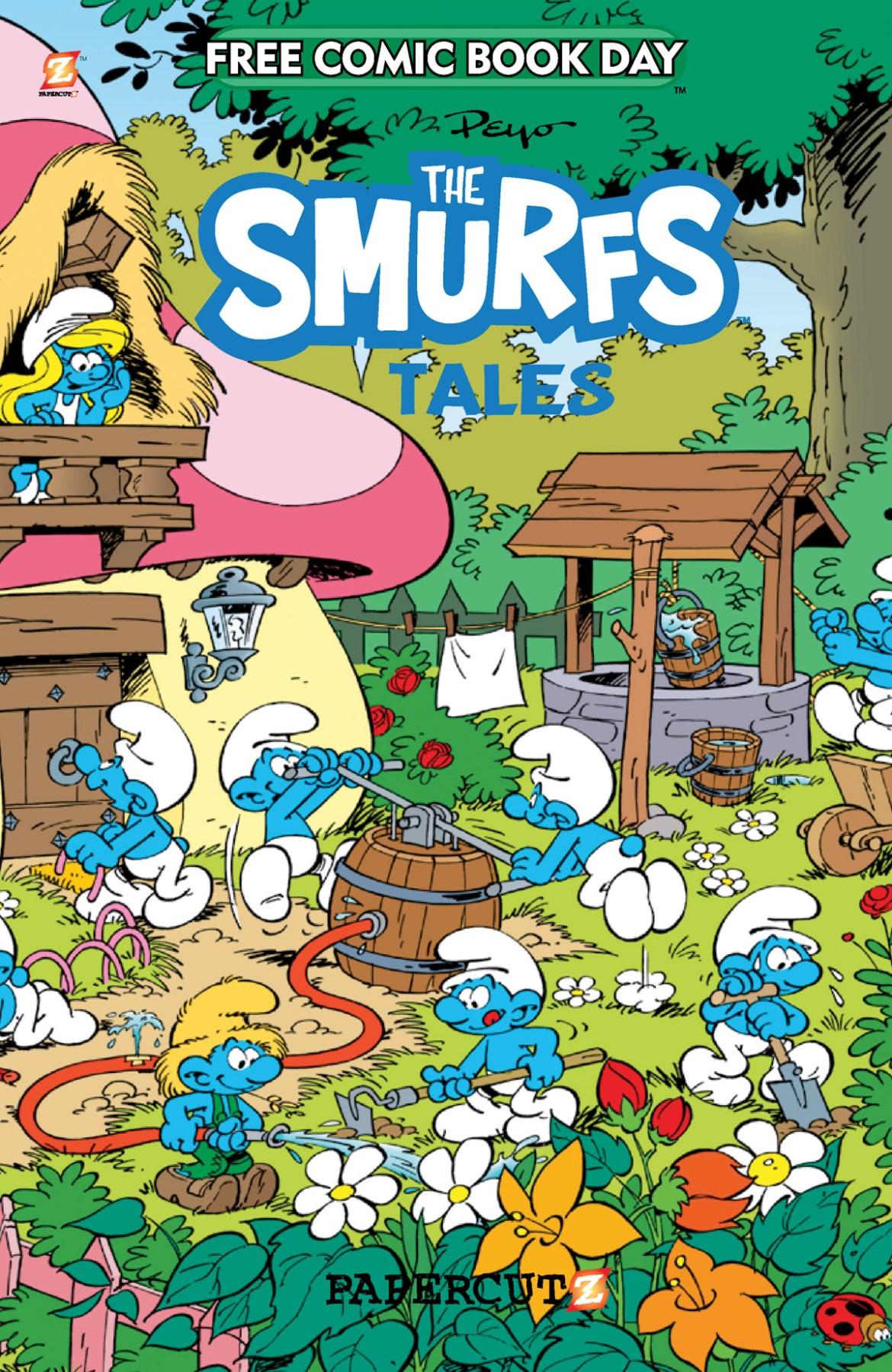 FCBD21_SILVER_Papercutz_Smurf-Tales Complete Free Comic Book Day 2021 comic book line-up announced