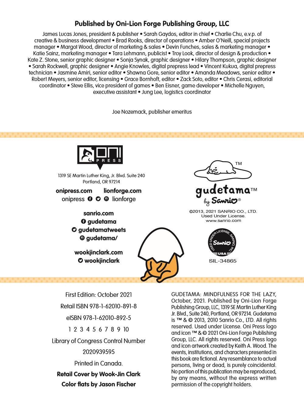 GUDETAMA-V4-MARKETING-05 ComicList Previews: GUDETAMA MINDFULNESS FOR THE LAZY HC