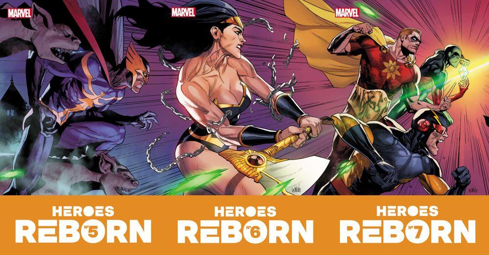 HEROESREBORN2021005-7_Covs-1 Marvel Comics June 2021 Solicitations