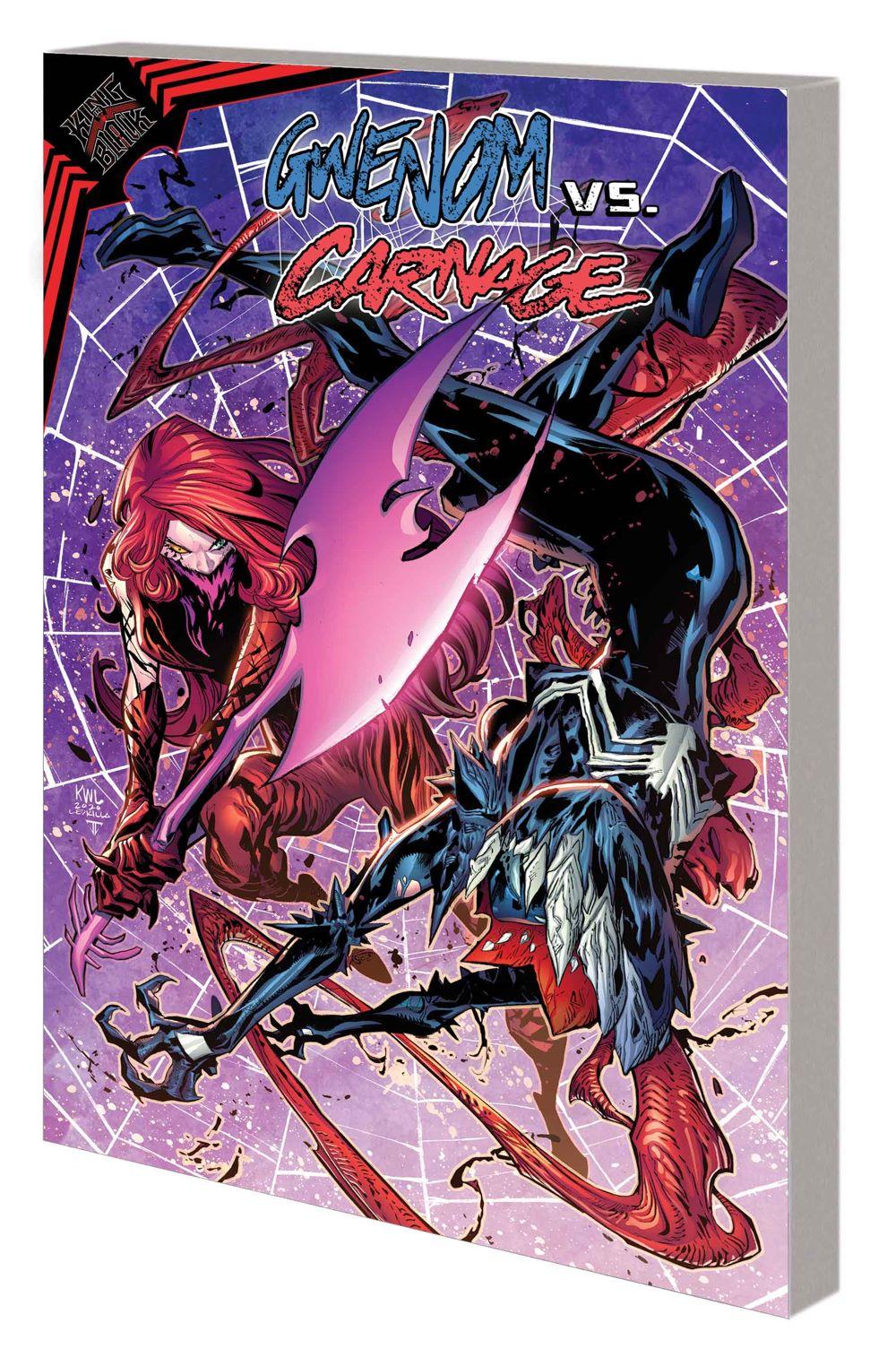KIB_GWENOMVSCARNAGE_TPB Marvel Comics June 2021 Solicitations