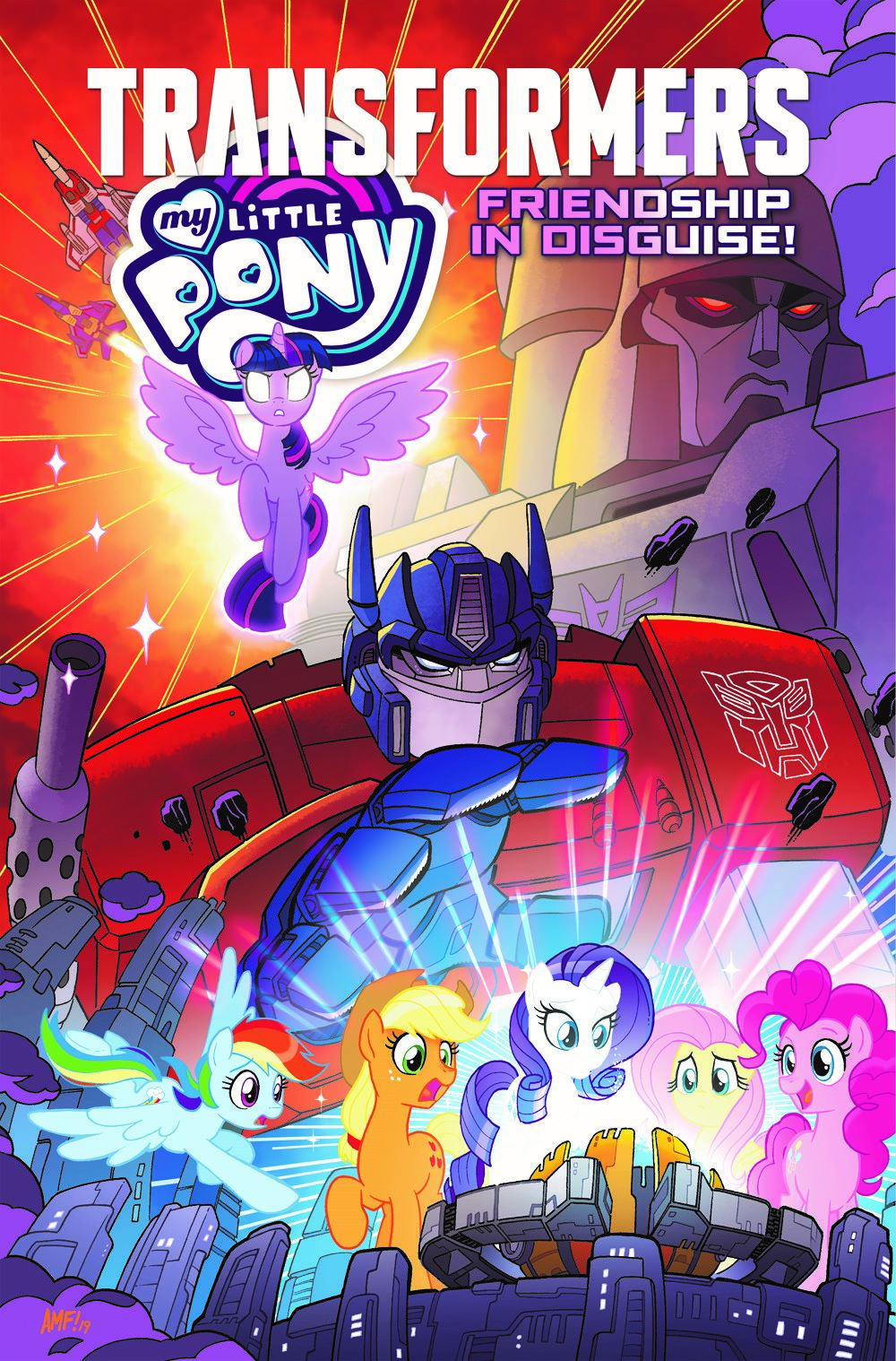 MLP_TF_Cvr ComicList Previews: MY LITTLE PONY TRANSFORMERS FRIENDSHIP IN DISGUISE TP