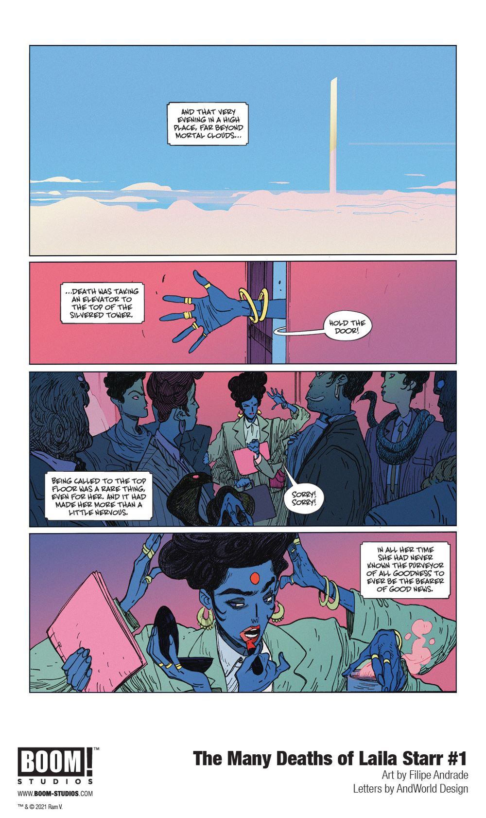 ManyDeathsLailaStarr_001_InteriorArt_004_PROMO First Look at BOOM! Studios' THE MANY DEATHS OF LAILA STARR #1