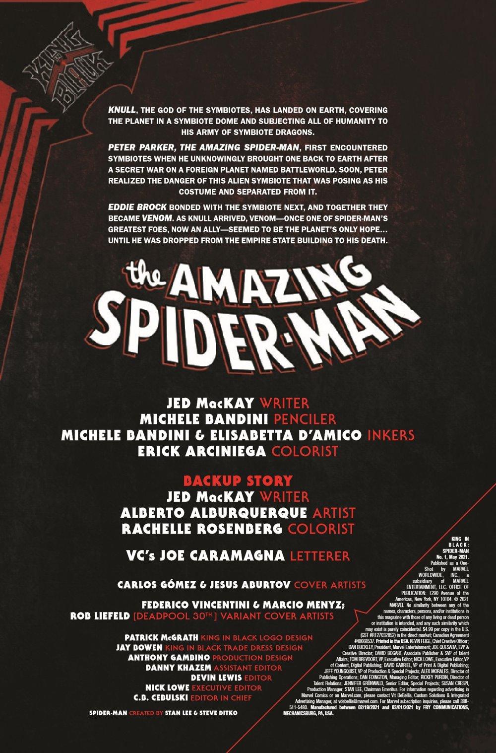 SMKIB2021001_Preview-2 ComicList Previews: KING IN BLACK SPIDER-MAN #1