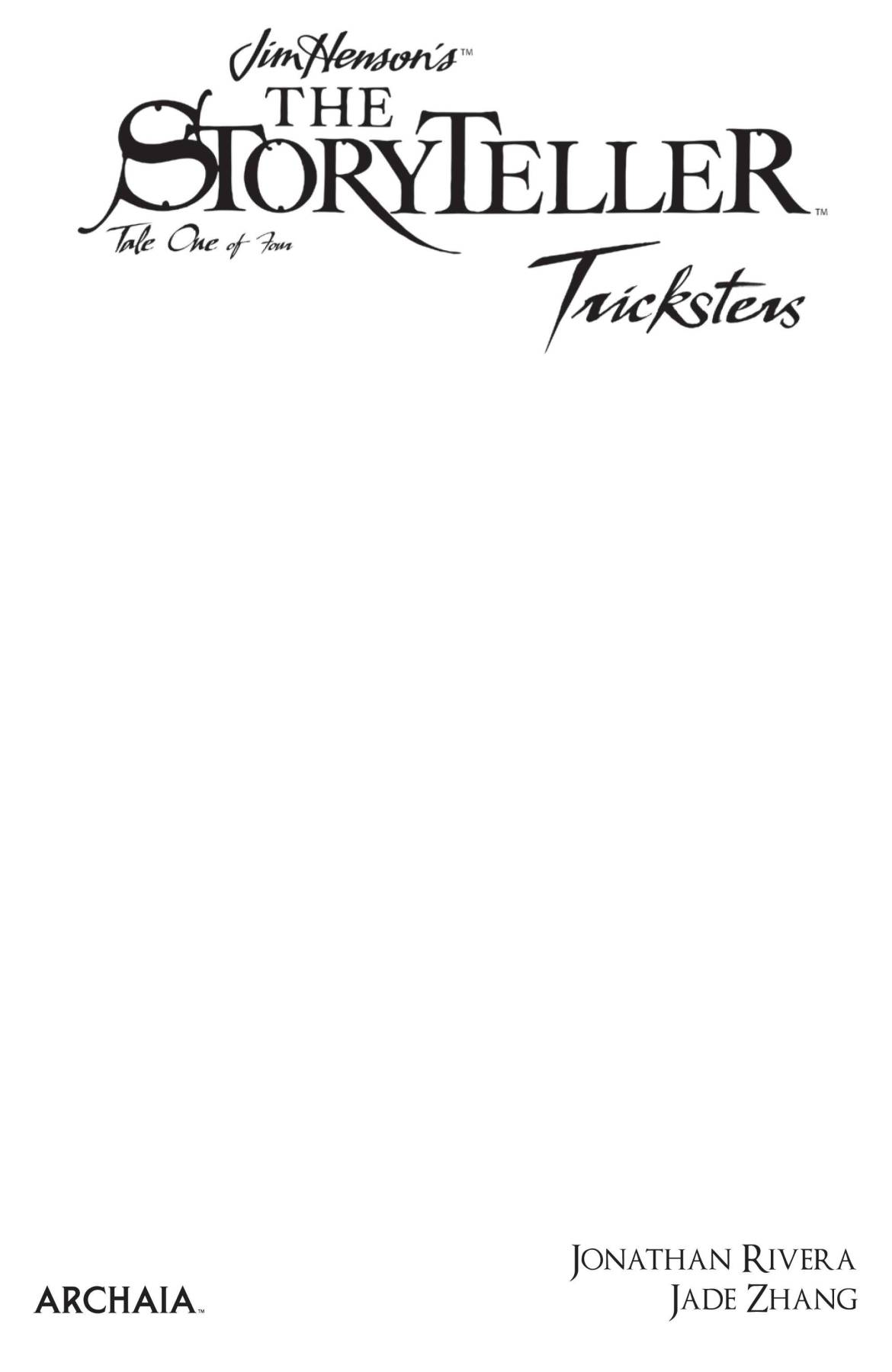 STL180104 ComicList Previews: JIM HENSON'S THE STORYTELLER TRICKSTERS #1 (OF 4)