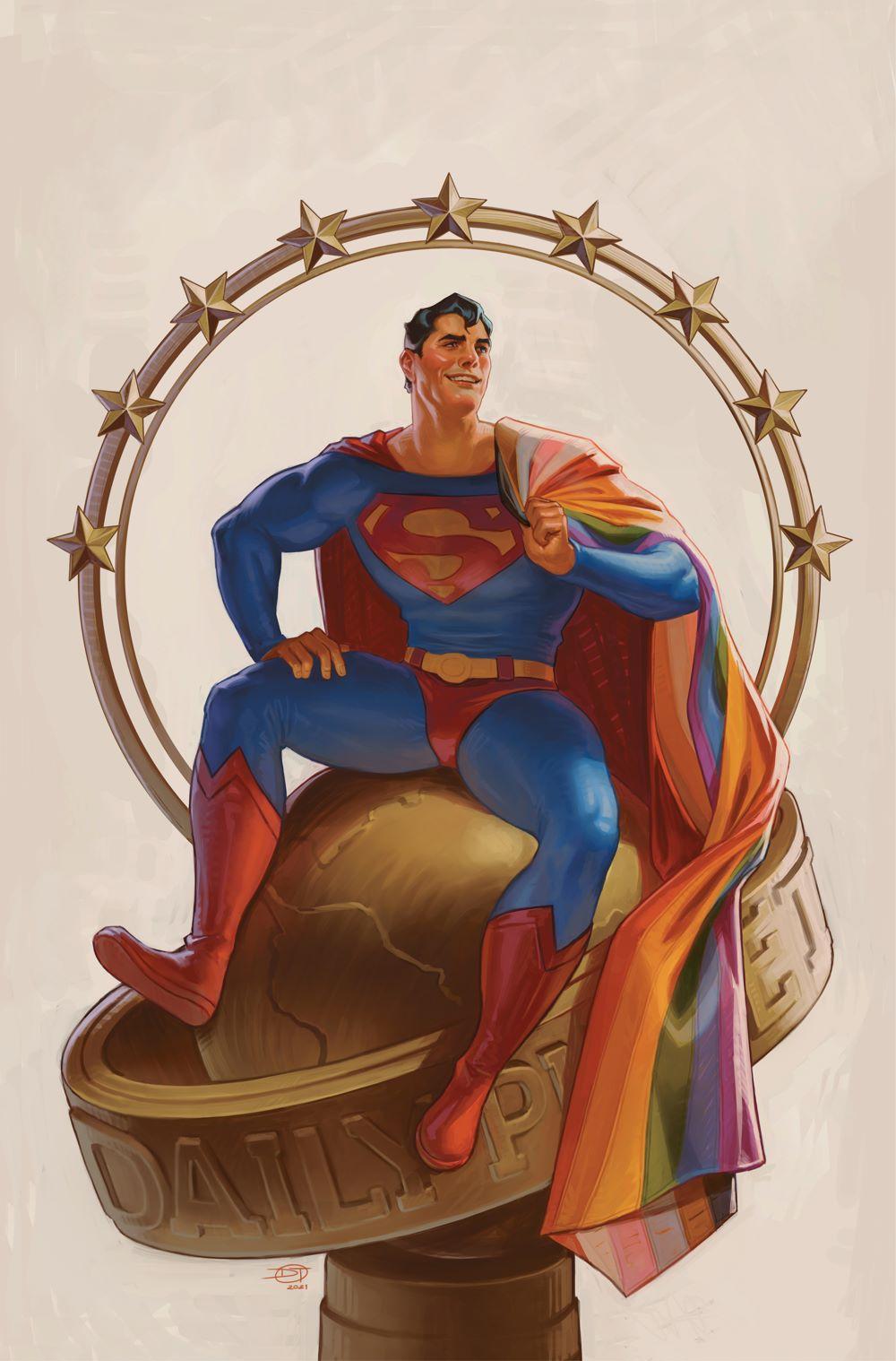 SUPERMAN_Cv32_PRIDE_var_NOTRADEDRESS DC Comics June 2021 Solicitations