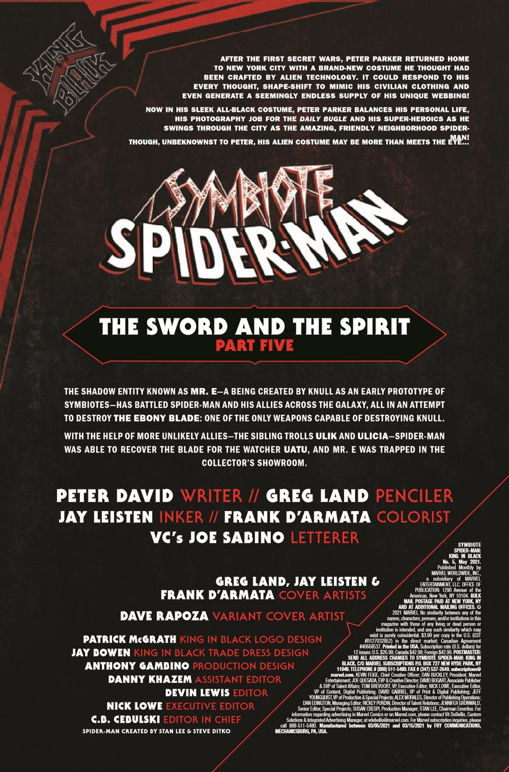 SYMBIOTESMKIB2020005_Preview-2 ComicList Previews: SYMBIOTE SPIDER-MAN KING IN BLACK #5 (OF 5)