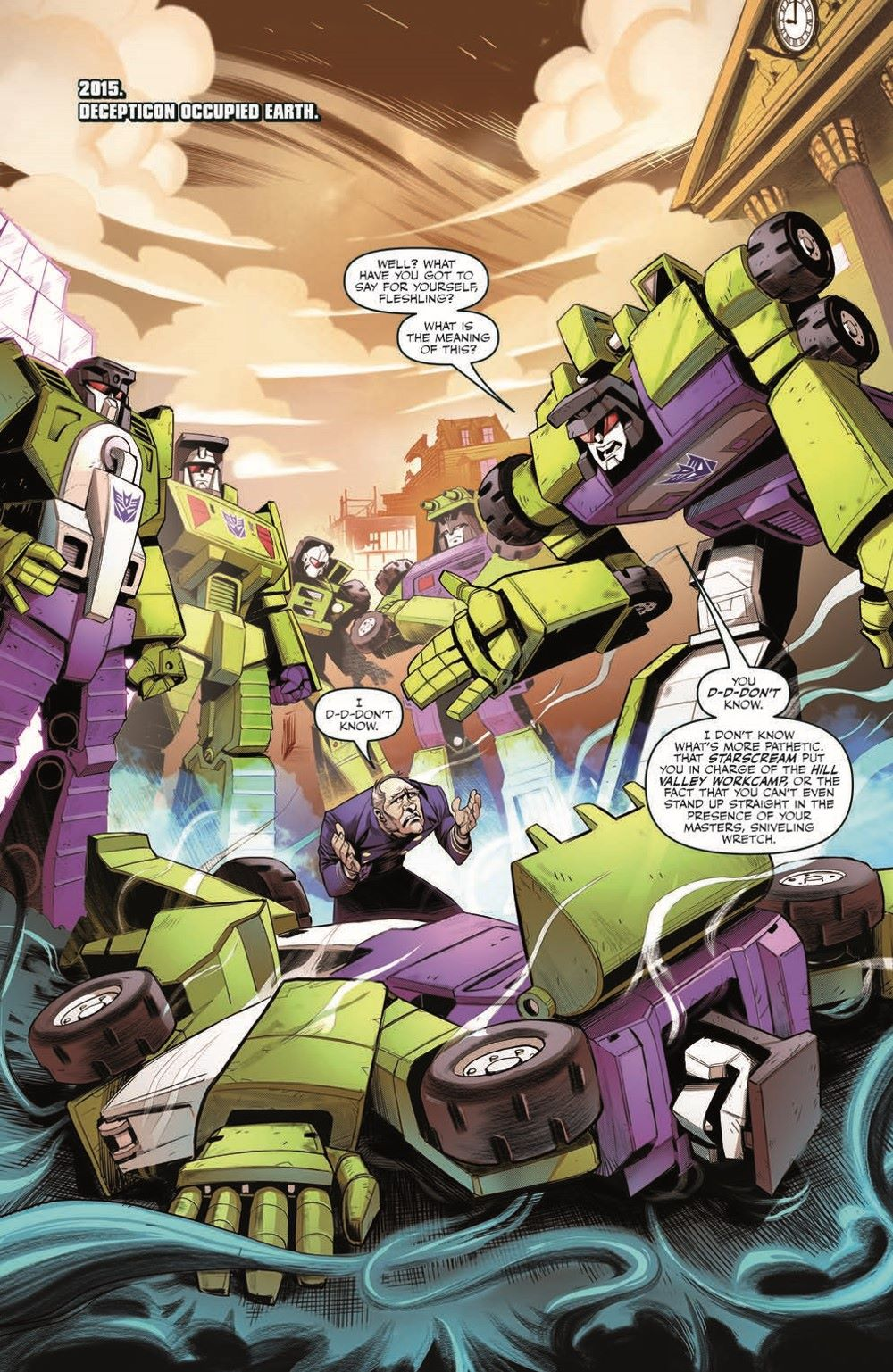 TF_BTTF03-pr-3 ComicList Previews: TRANSFORMERS BACK TO THE FUTURE #3 (OF 4)