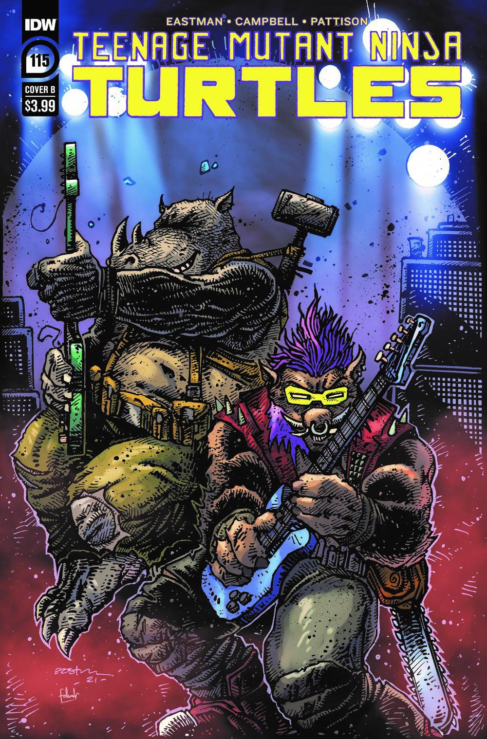 TMNT115_cvrB ComicList Previews: TEENAGE MUTANT NINJA TURTLES #115