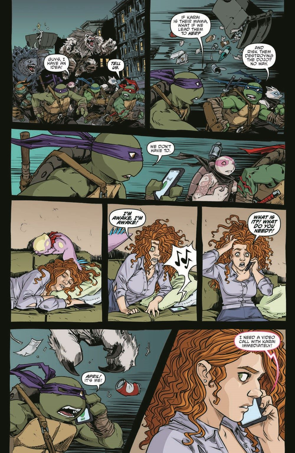TMNT115_pr-7 ComicList Previews: TEENAGE MUTANT NINJA TURTLES #115